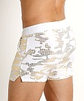 Modus Vivendi Glitter Line Swim Short White/Gold, view 4
