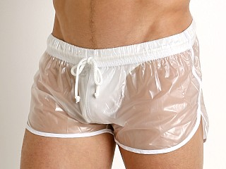 McKillop Ice Transparent Nylon Plastic Shorts White Trim