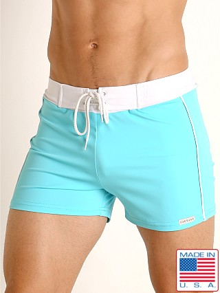 Sauvage Retro Lycra Swimmer Aqua