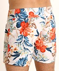 Sauvage Short Surf Trunk White Floral Print, view 4