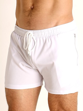 Complete the look: LASC Zippered Pockets Stretch Woven Gym Shorts White
