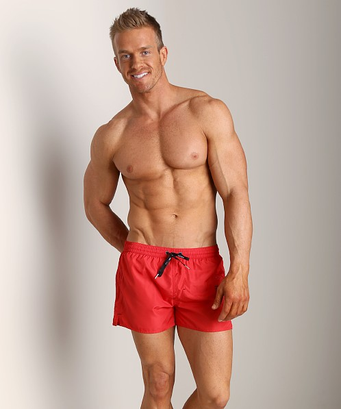 Diesel Coralrif Mohawk Swim Shorts Red