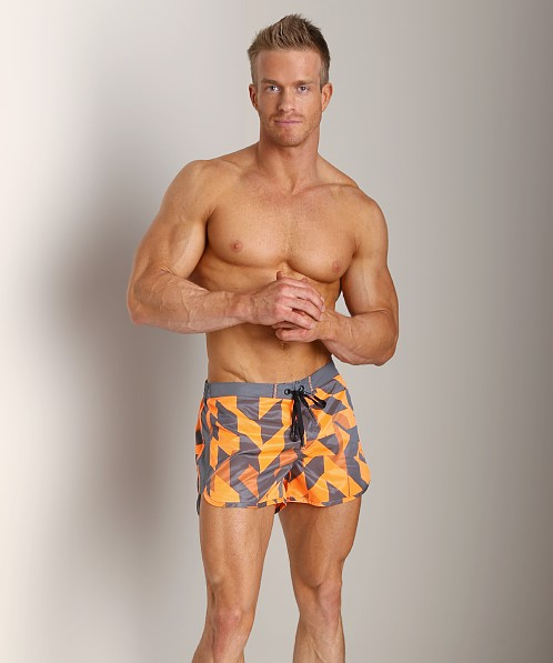 Diesel Reef-30 Cube Swim Shorts Orange