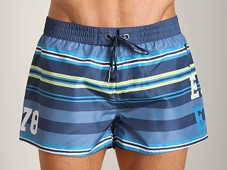 Diesel Coralrif-E Striped Swim Shorts Teal