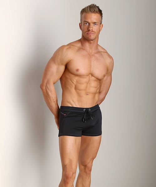 Diesel Aloha Athletic Swim Shorts Black