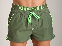 Diesel Barrely Swim Shorts Olive