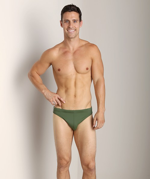 Diesel Hawaii Swim Briefs Olive