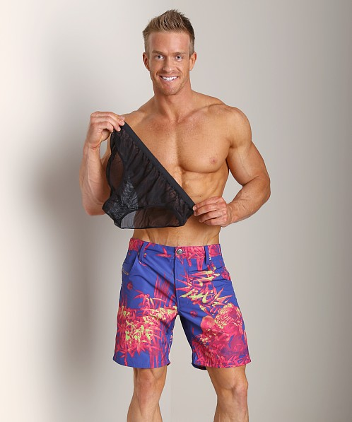 Diesel Kroobeach Board Shorts Royal Blue/Red