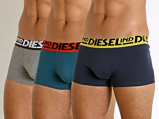 Diesel Retro Damien Trunks 3-Pack Navy/Teal/Heather