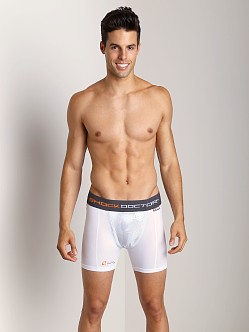 Shock Doctor Ultra Compression Boxer Short with Cup White
