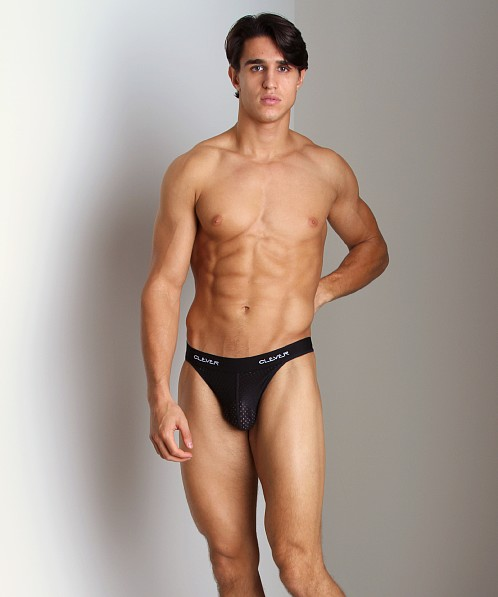 Clever Mesh Thong Black
