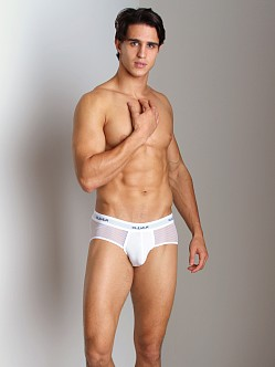 Clever Mesh Bars Brief White