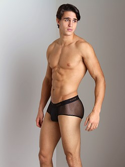 Clever Mesh Bars Brief Black