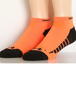 Under Armour Full Cushion Low Cut Running Socks Orange