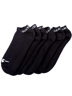 Under Armour Charged Cotton No Show Six-Pack Socks Black