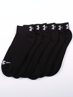 Under Armour Charged Cotton Lo Cut Six-Pack Socks Black
