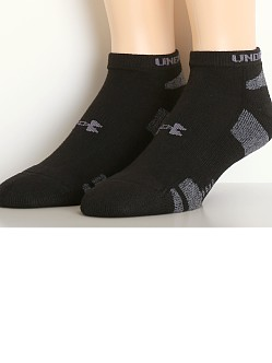 Under Armour Heat Gear No Show Socks Three-Pack Black