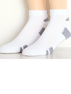 Under Armour Heat Gear Lo Cut Socks Three-Pack White