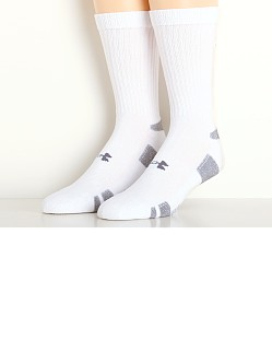 Under Armour Heat Gear Crew Socks Three-Pack White