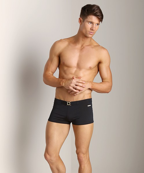Parke and Ronen Ibiza Buckle Swim Trunk Black