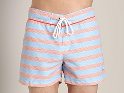 Parke and Ronen Classic Print Swim Trunk Stripe Blue