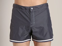Parke and Ronen Mykonos Swim Trunk Charcoal Taffeta