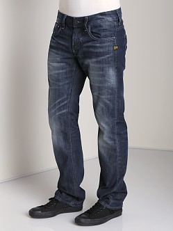 G-Star Attacc Low Straight Jeans Memphis Black Blue Denim