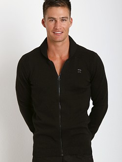 Diesel Chiccan Zip Front Sweater Black
