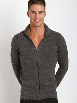 Diesel Chiccan Zip Front Sweater Smoke Grey