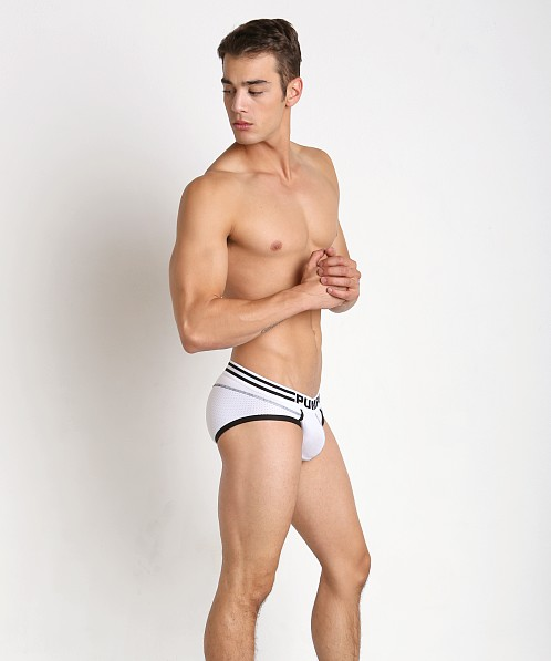 Pump Drop Kick Mesh Panel Brief White/Black