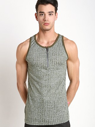 You may also like: Go Softwear Hustle Zip Front Tank Top Olive