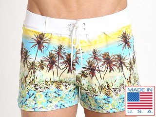 Sauvage European Nylon Lycra Boardshort West Coast Palm