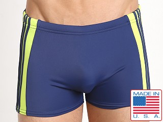 Sauvage Freestyle Nylon Lycra Swim Trunk Navy/Lime