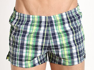 You may also like: Sauvage Como Italia Plaid Swim Trunks Navy/Lime