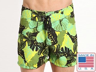 Sauvage Laguna Surf Swim Short Green Flower