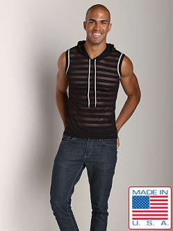 Pistol Pete Avalon Mesh Sleeveless Hoody Black