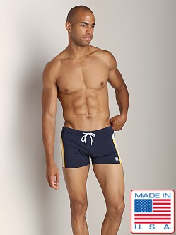 Pistol Pete SuperJock Short Navy/Yellow