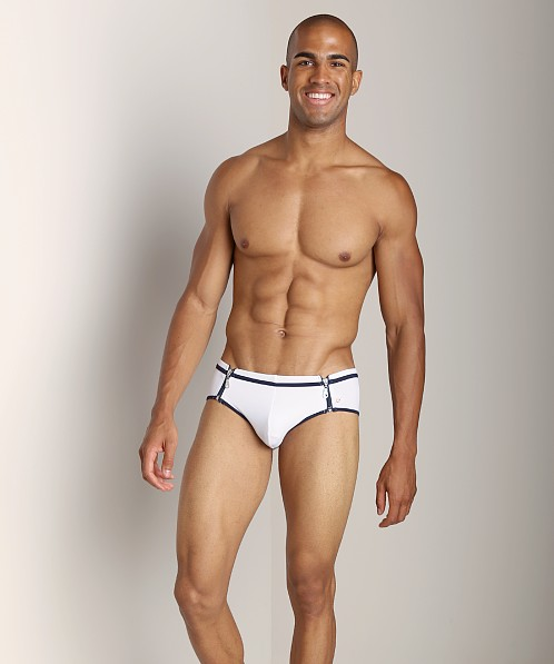 Pistol Pete Zipline Swim  Brief White