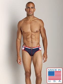 Pistol Pete Patriot Swim Brief Navy
