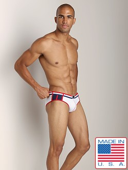 Pistol Pete Patriot Swim Brief White