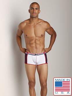 Pistol Pete Patriot Swim Trunk White