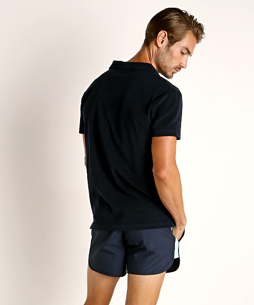 Hugo Boss Terry Beach Polo Shirt Navy