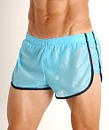 American Jock Elite Sport Lined Track Short Turquoise, view 3