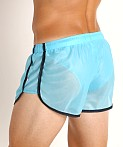 American Jock Elite Sport Lined Track Short Turquoise, view 4