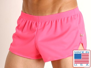 Model in pink American Jock Elite Sport Jog Short