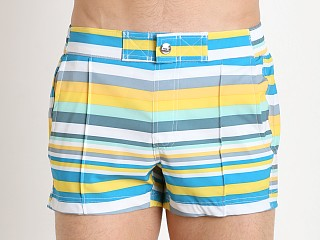 2xist Yacht Swim Shorts Tiki Stripe Freesia