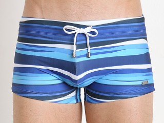 2xist Striped Cabo Swim Trunk Estate Blue