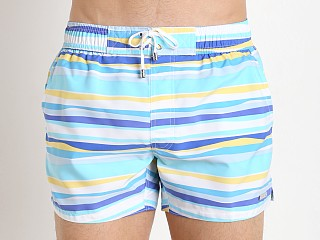 2xist Striped Ibiza Swim Shorts Ice