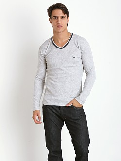 Emporio Armani Soft Lounge Sweater Melange Grey