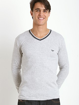 Complete the look: Emporio Armani Soft Lounge Sweater Melange Grey
